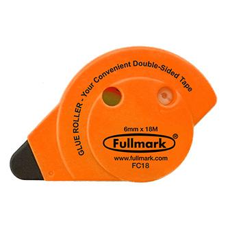 Lepicí roller permanent, fluorescentní oranžový, 6mm x 18m, Fullmark