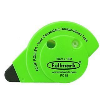 Lepicí roller permanent, fluorescentní zelený, 6mm x 18m, Fullmark
