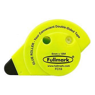Lepicí roller permanent, fluorescentní žlutý, 6mm x 18m, Fullmark