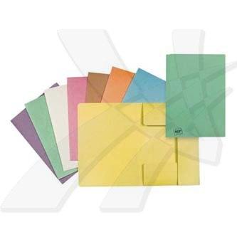 Mapa tříklopá H, A4, oranžová, Hit Office, eko, cena za 1ks, 10ks