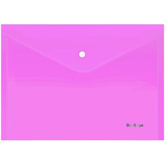 Obálka plastová A4, 180mic, růžová, Berlingo, Starlight, průhledná, 10ks