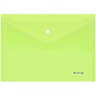 Obálka plastová A4, 180mic, zelená, Berlingo, Starlight, průhledná, 10ks