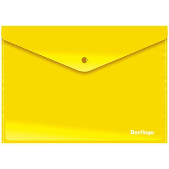 Obálka plastová A4, 180mic, žlutá, Berlingo, 10ks