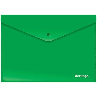 Obálka plastová A4, 180mic, zelená, Berlingo, 10ks