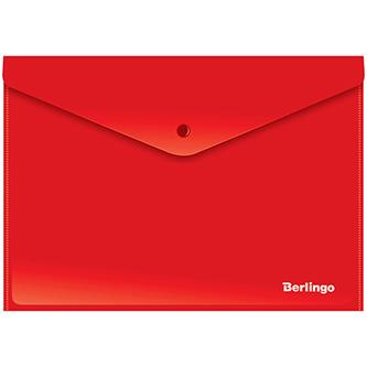 Obálka plastová A4, 180mic, červená, Berlingo, 10ks