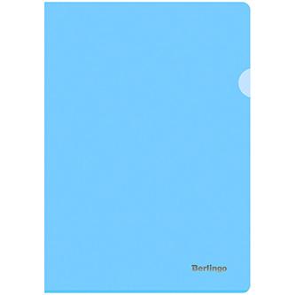 Obal na doklady A4, 180mic, modrý, Berlingo, Starlight, průhledný, 20ks