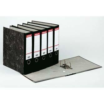Pořadač pákový, A4, 70mm, černý, Esselte, mramorový, cena za 1ks, 5ks