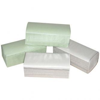 Papírový ručník ZZ, 250 x 230mm, zelený, 20 x 250ks, jednovrstvý