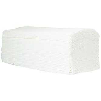Papírový ručník ZZ, 230 x 250mm, bílý, 3200ks, dvouvrstvý