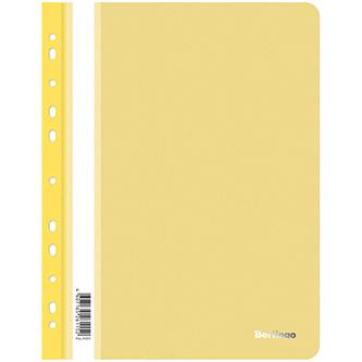 Rychlovazač A4, 180mic, žlutý, Berlingo, Instinct, průhledný, závěsný, 10ks