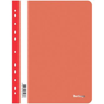 Rychlovazač A4, 180mic, červený, Berlingo, Instinct, průhledný, závěsný, 10ks