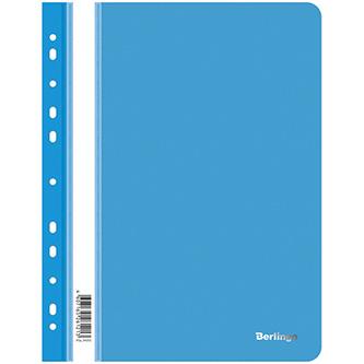 Rychlovazač A4, 180mic, modrý, Berlingo, Instinct, průhledný, závěsný, 10ks