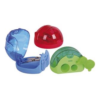Ořezávátko plastové, color, pro silnou i tenkou tužku