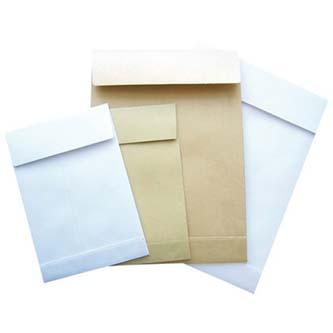 Obchodní taška samolepicí, C4, 229 x 324mm, bílá, Krpa, 25ks