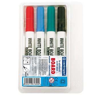 Centropen, Popisovač 8559, černý, červený, modrý, zelený, oranžový, 4ks, 2.5mm, +1 zdarma, stíratelný