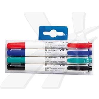 Centropen, marker 2709, černý, červený, modrý, zelený, 4ks, 1.8mm, stíratelný, cena za 1ks