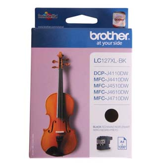 Brother originální ink LC-127XLBK, black, 1200str., Brother MFC-J4510 DW