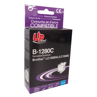 UPrint kompatibilní ink s LC-1280XLC, cyan, 1200str., 12ml, B-1280C, high capacity, pro Brother MFC-J6910DW