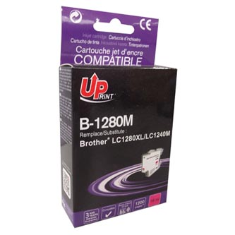 UPrint kompatibilní ink s LC-1280XLM, magenta, 1200str., 12ml, B-1280M, high capacity, pro Brother MFC-J6910DW