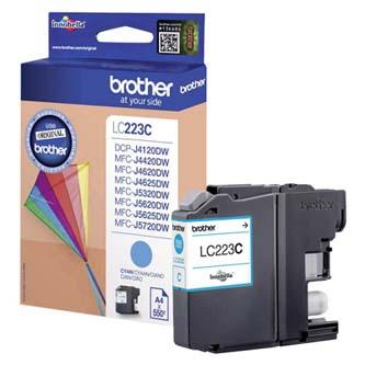 Brother originální ink LC-223C, cyan, 600str., 1ks, Brother MFC-J4420DW, MFC-J4620DW