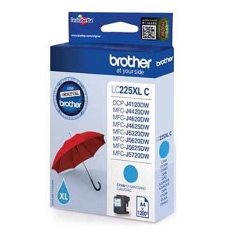 Brother originální ink LC-225XLC, cyan, 1200str., 1ks, Brother MFC-J4420DW, MFC-J4620DW