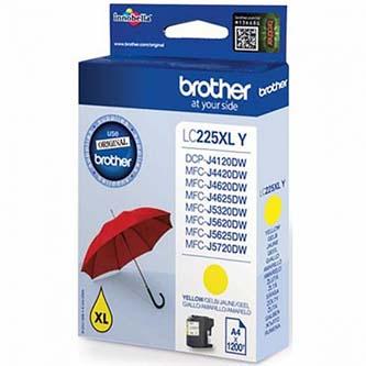 Brother originální ink LC-225XLY, yellow, 1200str., 1ks, Brother MFC-J4420DW, MFC-J4620DW