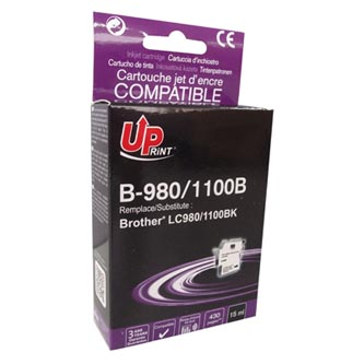 UPrint kompatibilní ink s LC-980BK, black, 15ml, B-980B, pro Brother DCP-145C, 165C