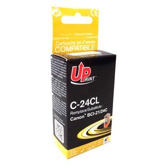 UPrint kompatibilní ink s BCI24C, color, 15ml, C-24CL, pro Canon BCI24C - pro S200, S300, i320, i450, MPC-200, 190