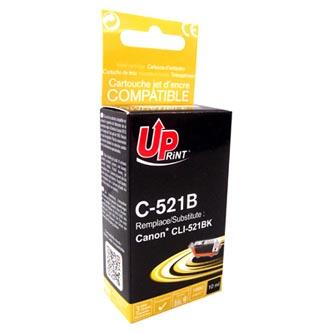 UPrint kompatibilní ink s CLI521BK, black, 10ml, C-521B, s čipem, pro Canon iP3600, iP4600, MP620, MP630, MP980