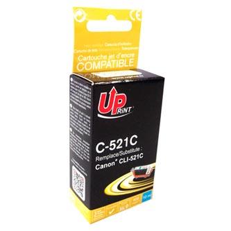 UPrint kompatibilní ink s CLI521C, cyan, 450str., 10ml, C-521C, s čipem, pro Canon iP3600, iP4600, MP620, MP630, MP980