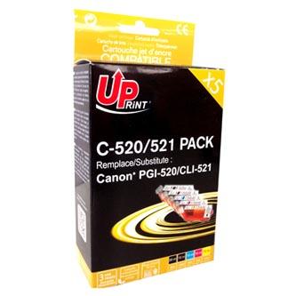 UPrint kompatibilní ink s CLI521, 2xblack/1xcyan/1xmagenta/1xyellow, C-520/521 PACK, pro C