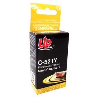UPrint kompatibilní ink s CLI521Y, yellow, 510str., 10ml, C-521Y, pro Canon iP3600, iP4600, MP620, MP630, MP980, s čipem