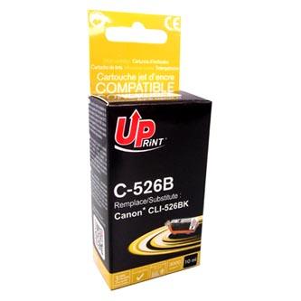 UPrint kompatibilní ink s CLI526BK, black, 10ml, C-526B, pro Canon Pixma  MG5150, MG5250, MG6150, MG8150, s čipem