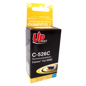 UPrint kompatibilní ink s CLI526C, cyan, 10ml, C-526C, s čipem, pro Canon Pixma  MG5150, MG5250, MG6150, MG8150