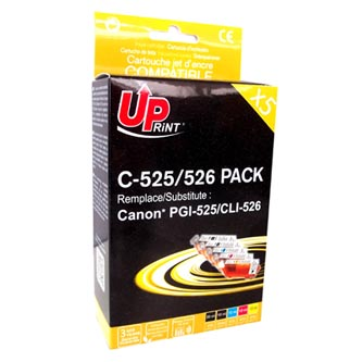 UPrint kompatibilní ink s CLI526, 2xblack/1xcyan/1xmagenta/1xyellow, C-525/526 PACK, pro C