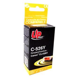 UPrint kompatibilní ink s CLI526Y, yellow, 10ml, C-526Y, s čipem, pro Canon Pixma  MG5150, MG5250, MG6150, MG8150