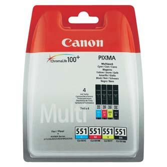 Canon originální ink 6509B009, CLI551, CMYK