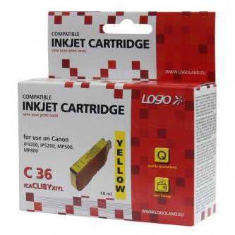 Logo kompatibilní ink s CLI8Y, yellow, 14ml, s čipem, pro Canon iP4200, iP5200, iP5200R, MP500, MP800