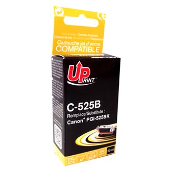 UPrint kompatibilní ink s PGI525PGBK, black, 20ml, C-525B, pro Canon Pixma  MG5150, 5250,