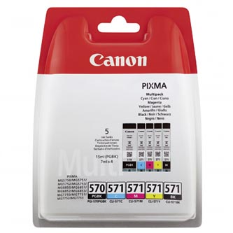 Canon originální ink PGI-570/CLI-571 PGBK/C/M/Y/BK Multi pack, black/color