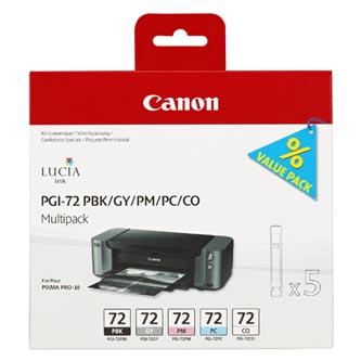Canon originální ink PGI72, PBK/GY/PM/PC/CO
