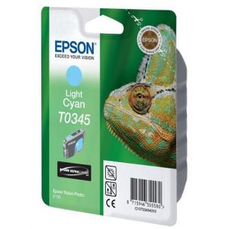 Epson originální ink C13T034540, light cyan, 440str., 17ml, Epson Stylus Photo 2100