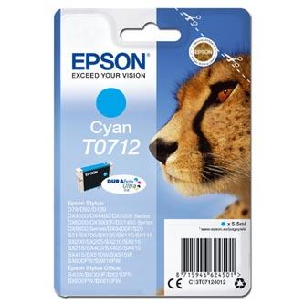 Epson originální ink C13T07124012, cyan, 375str., 5,5ml