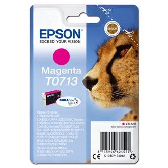 Epson originální ink C13T07134012, magenta, 270str., 5,5ml