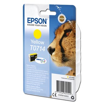 Epson originální ink C13T07144012, yellow, 405str., 5,5ml