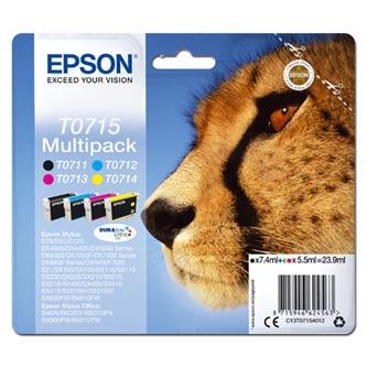 Epson originální ink C13T07154012, CMYK, 23.9ml