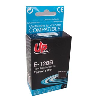 UPrint kompatibilní ink s C13T12814010, black, 180str., 7ml, E-128BE, pro Epson Stylus S22, SX125, 420W, 425W, Stylus Office BX305