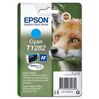 Epson originální ink C13T12824012, T1282, cyan, 3,5ml