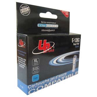 UPrint kompatibilní ink s C13T12824011, cyan, 270str., 10ml, E-128C, pro Epson Stylus S22, SX125, 420W, 425W, Stylus Office BX305