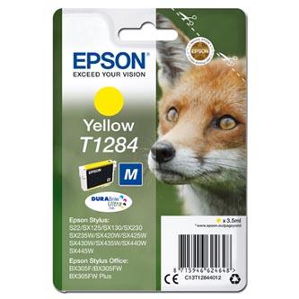 Epson originální ink C13T12844012, T1284, yellow, 3,5ml